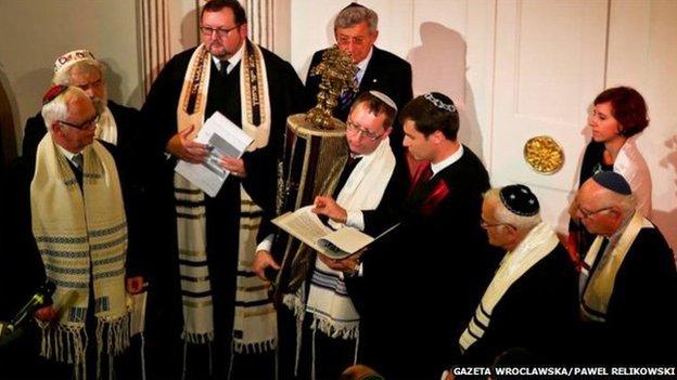 Rabbi ordination in Wroclaw, Poland