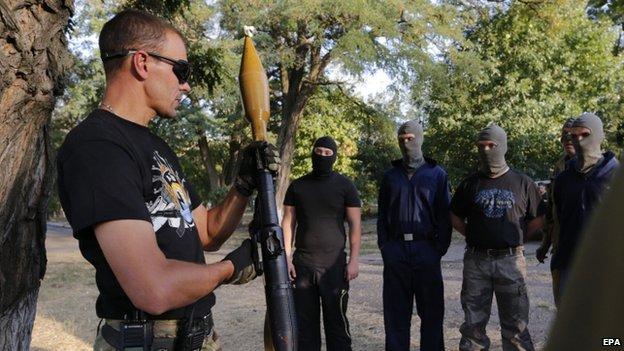 Ukraine's Azov battalion trains volunteers in Mariupol