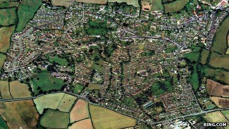 Aerial view of Bishopsteignton