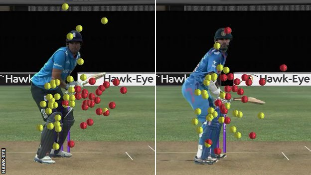 Graphic: Alastair Cook and Shikhar Dhawan's scoring shots against seamers