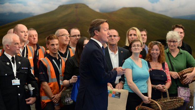 David Cameron and local food producers