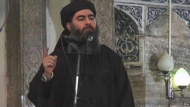 The caliph of the self-proclaimed Islamic State, Abu Bakr al-Baghdadi