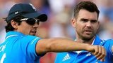 England captain Alastair Cook and pace bowler James Anderson
