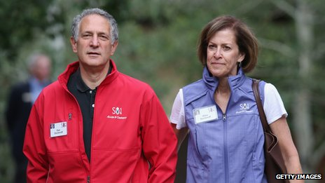 Bloomberg president and chief executive Daniel Doctoroff and his wife