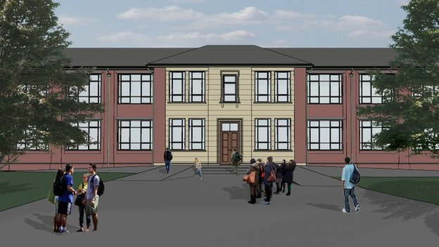 Artist impression of the new-look Groves site