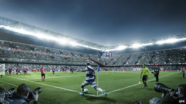 CGI of the new stadium