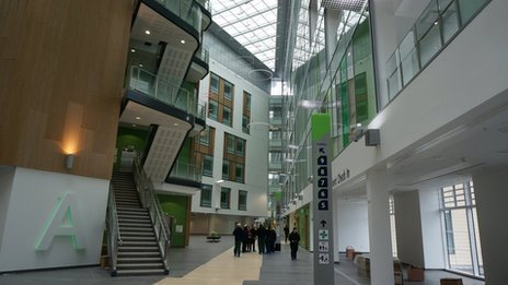 Interior of Southmead Hospital