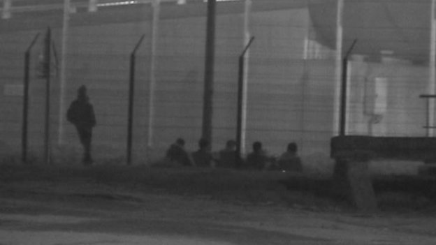 Migrants waiting at Calais