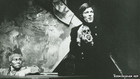 Richard Chamberlain as Hamlet in 1969 at Birmingham Repertory Theatre