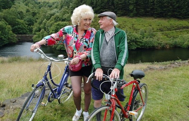 Secret romantic trysts on their bicycles in last of the summer wine