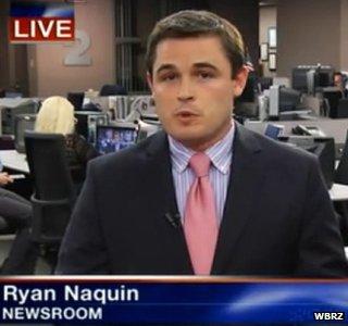 Ryan Naquin in WBRZ newsroom