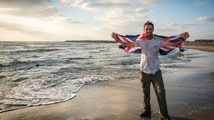 Levison Wood arriving at Mediterranean in Egypt