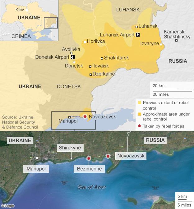 Ukraine control map