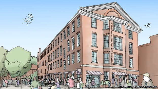 Artist's impression of expanded Northampton Museum