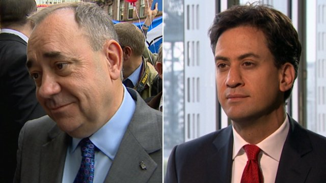 Alex Salmond and Ed Miliband