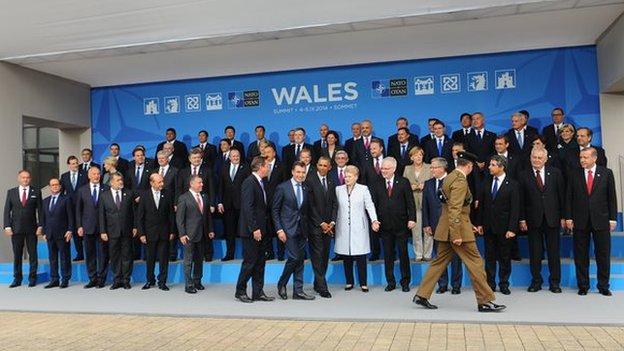 world leaders at the Nato summit in Newport