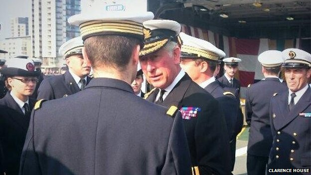 Prince Charles on HMS Duncan