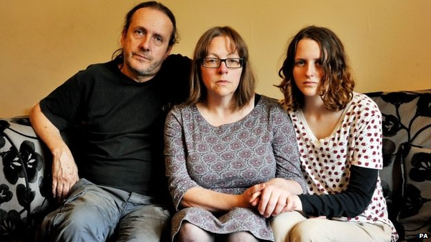 Alice Gross's father Jose Gross, mother Rosalind Hodgkiss and sister Nina Gross