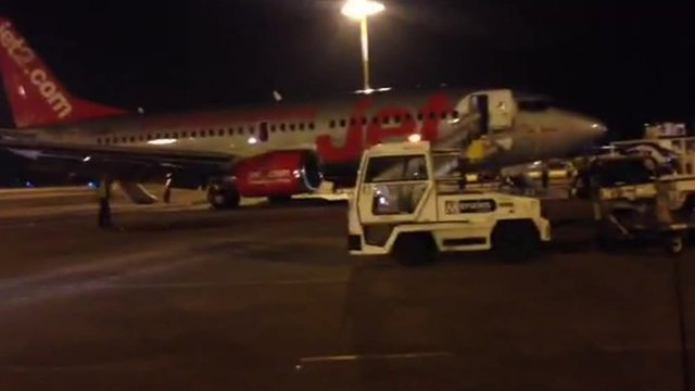 Jet2 aircraft at East Midlands Airport