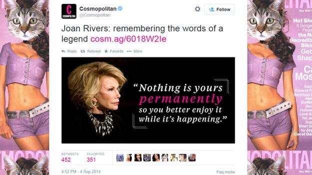 Cosmo tweet