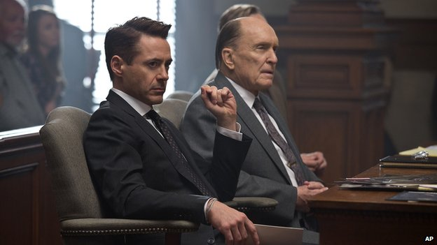 Robert Downey Jr and Robert Duvall in the film The Judge
