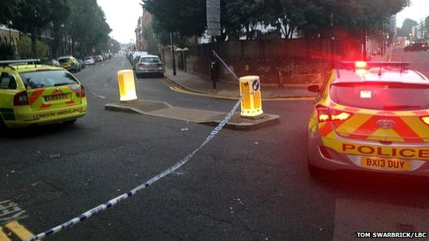Scene of the shooting on Shepperton Road