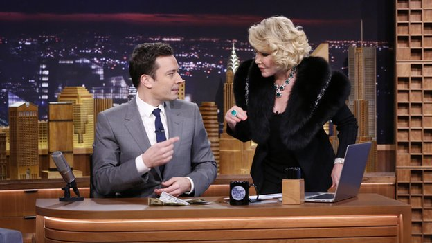 Joan Rivers on the Tonight show with Jimmy Fallon