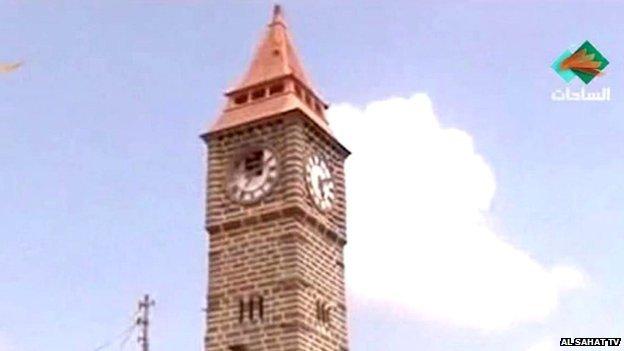 """Aden's """"Big Ben"""" tower"""