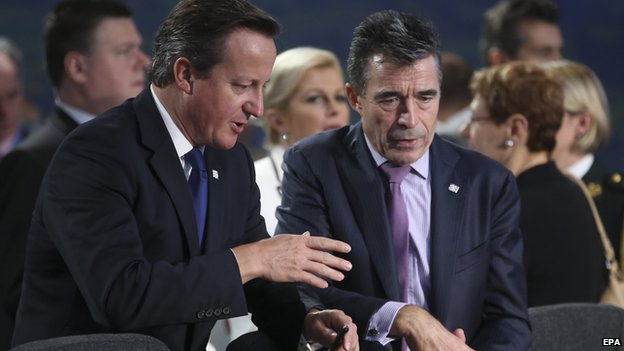 David Cameron and Nato Secretary-General Anders Fogh Rasmussen