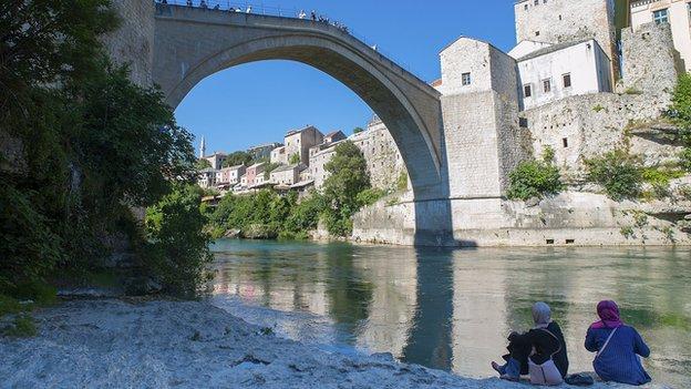 Mostar's Ottoman-era Old Bridge