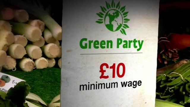 Bbc News Greens Call For 10 Minimum Wage And Wealth Tax