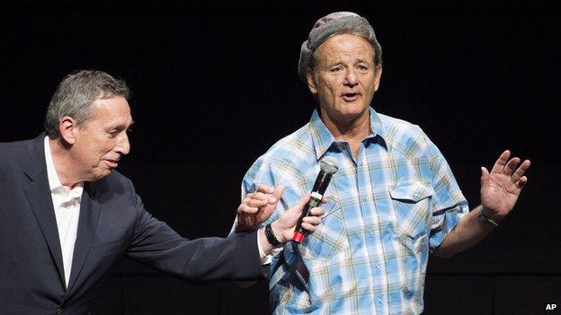 Bill Murray (right)