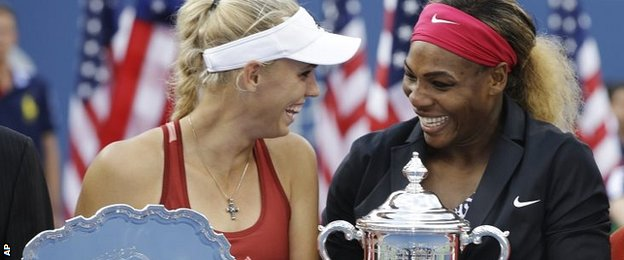 Caroline Wozniacki and Serena Williams