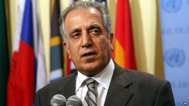 Zalmay Khalilzad, U.S. Ambassador to the UN, at UN HQ in New York on 10 August 2008