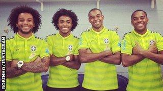 Marcelo, Willian, Fernandinho, Robinho