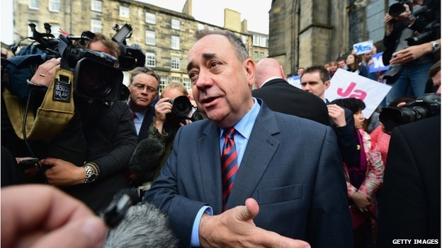 Alex Salmond was speaking outside St Giles Cathedral in Edinburgh