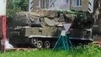 Image purports to show BUK missile launcher in Zuhres, east of Donetsk