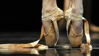 Shoes of a ballet dancer