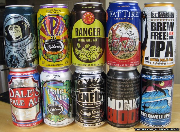 Selection of craft canned beers