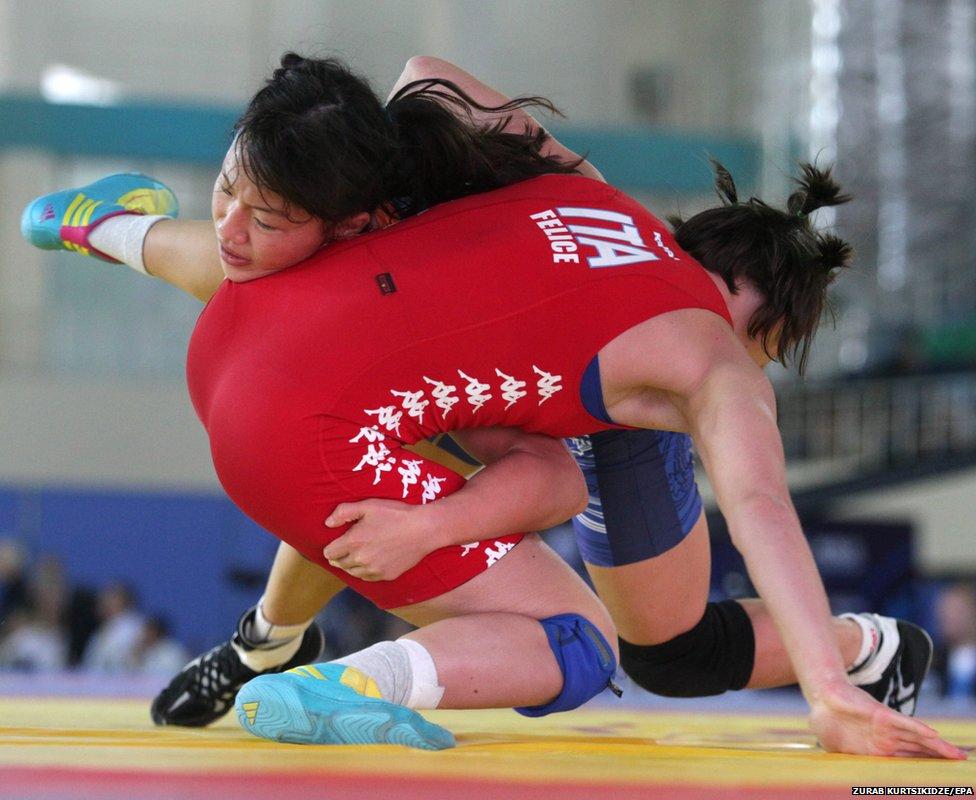 World Senior Wrestling Championships in Tashkent, Uzbekistan