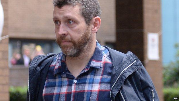 Dave Gorman arrives at Southwark Crown Court