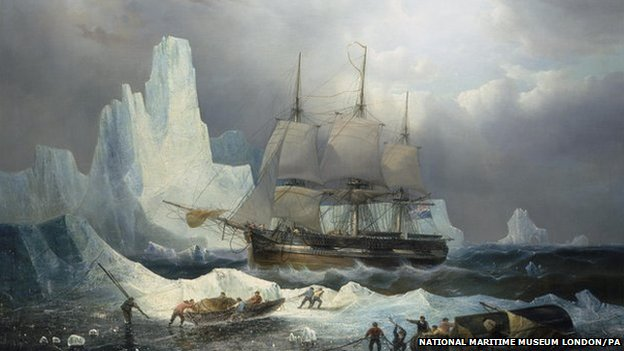 Painting of the Franklin expedition
