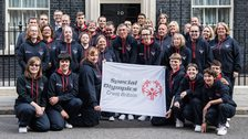 The GB team outside No 10 Downing Street