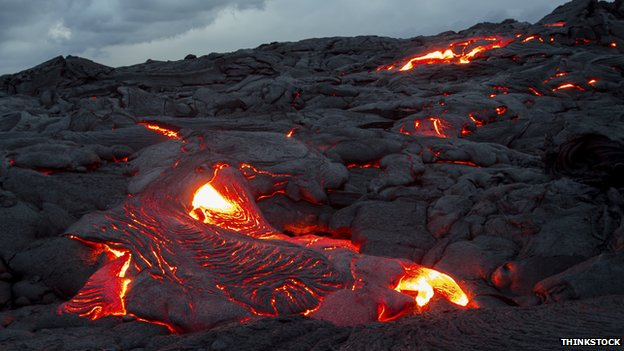 Lava in Hawaii