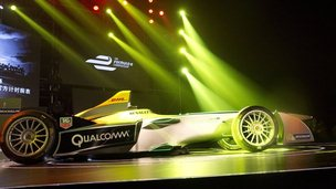 Formula e electric car