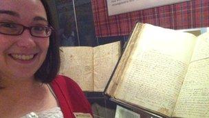 Curator and manuscript
