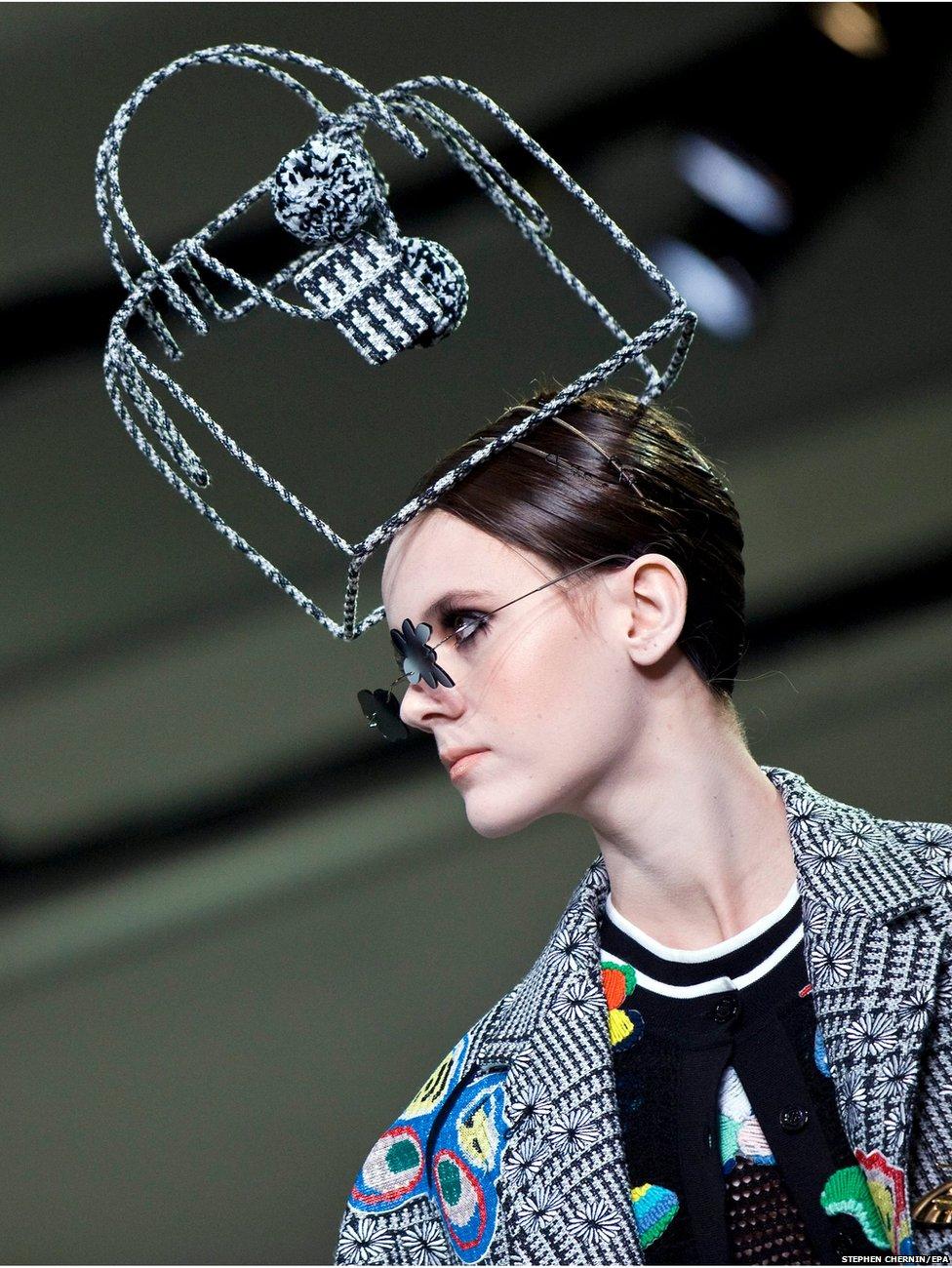 Model at New York Fashion Week