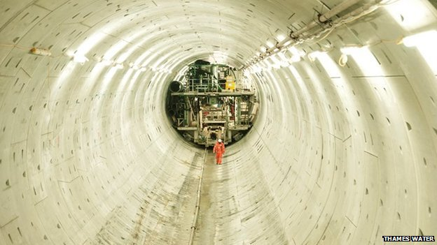 The Lee Tunnel which will connect to the Thames Tideway Tunnel