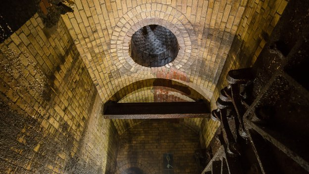 The ceiling of the Victorian sewer