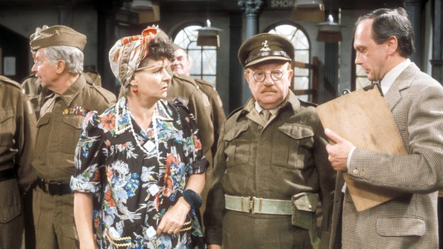 John Bardon (r) in Dad's Army
